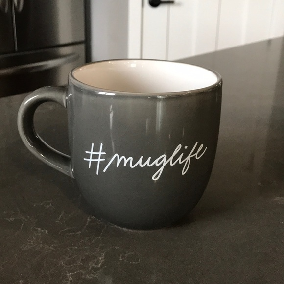 """Gray Mug """"#muglife"""" Good Condition"""